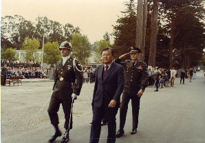 Senators Inouye and Matsunaga at opening ceremony